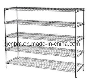 5-Layer Carbon Steel Chrome Anti-Static Industrial Use Wire Shelving pictures & photos
