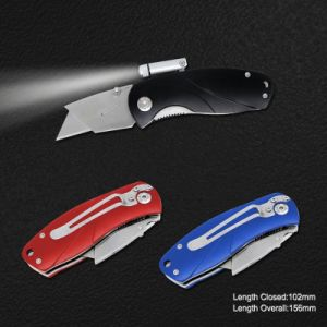 Hotsale Stainless Steel Quick Changeable Blade Knife with LED (#3582) pictures & photos