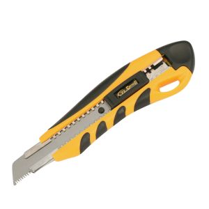 18mm Utility Knife with Black Blade, Plastic Handle Cutting Knife pictures & photos