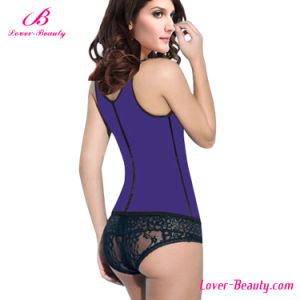Hot Smooth Purple Vest Latex Plus Size Waist Training Corset pictures & photos