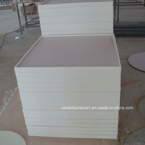 Square Dining Table Corian Solid Surface Tabletop pictures & photos