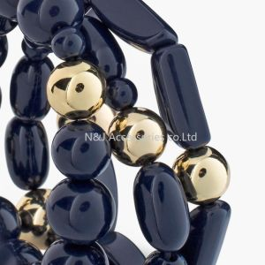 Fashion Jewelry Black Acryl Beads Stretch Bracelets pictures & photos