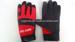 Mechanic Glove-Working Glove-Weight Lifiting Glove-Construciton Glove-Oil Glove-Leather Glove pictures & photos