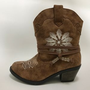 Women′s Fashion Boot with Flower pictures & photos