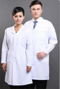 New Mens Womens White Scrub Medical Lab Coat (A601)