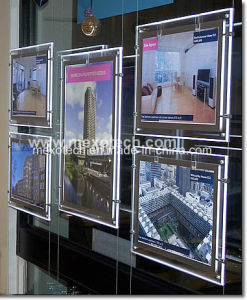 LED Window Light Pocket for Estate Agent Hanging Display System pictures & photos