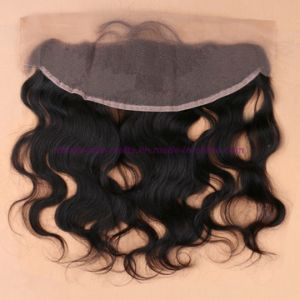New! 8A Grade 13*4 Lace Frontal Closure with Bundles Human Indian Virgin Hair with Closure Can Be Dyed pictures & photos