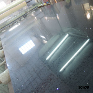 High Quality Black Sparkle Color Artificial Quartz Stone pictures & photos