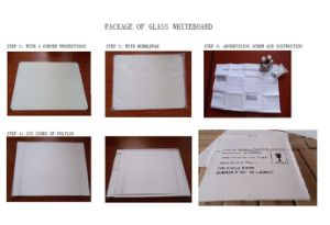 Office Supply Frameless Magnetic Glass Writing Whiteboard pictures & photos