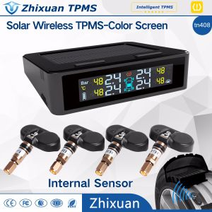 China TPMS Factory Tyre Pressure Monitoring System USB Charge Solar Power 4 Sensors Infinion IC pictures & photos