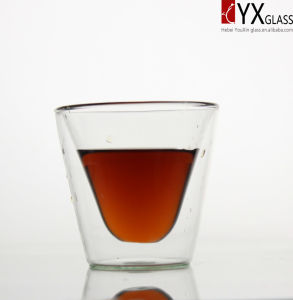 200ml Double Layer Glass Coffee Cup/Double Layer Glass Tea Cup/Double Layer Glass Thermos Cup