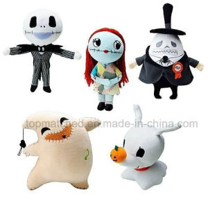 Nightmare Before Christmas Plush Set of 5. Includes: Jack, Sally, Oogie Boogie, Zero, Mayor pictures & photos