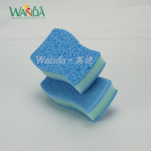 Double Usage Cellulose Sponge Scourer Sponge Pad with High Performance pictures & photos