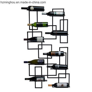 Unique Delicate Modern Metal Pipeline Wall Mounted Wine display Rack pictures & photos