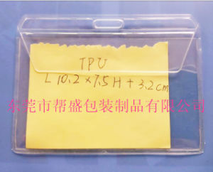 Customized Hot Sealed Clear Plastic Name Card Holder with Waterproof Cover to Japan pictures & photos