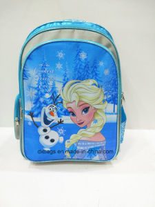 2017 New Design Frozen Satin Backpack for Grils, School Bags pictures & photos