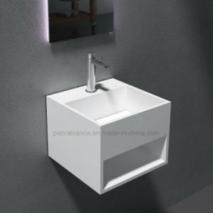 Corian Solid Surface Wall-Hung Basin (PB2035) pictures & photos