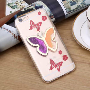 Beautiful Diamond Butterfly Tow Colors Quicksand Mobile Phone Cases pictures & photos