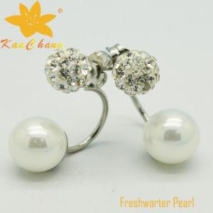 Ager-004 Unique Black Color 10mm Agate Silver Drop Earrings pictures & photos