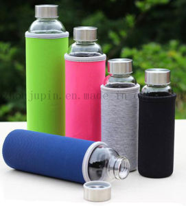 OEM Logo Glass Thermos Vacuum Flask Bottle with Sleeve pictures & photos