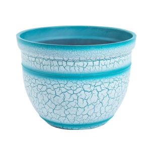 Blue Big Garden Flower Pot Decoration Pot