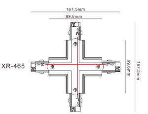 Universal White/Black/Gray Three Circuits Track X Connector (XR-465) pictures & photos