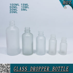 Fancy Cosmetics Frosted Glass Dropper Bottle with Colorful Rubber pictures & photos