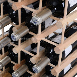Pine Wood 40 Bottles Storage Display Wine Rack pictures & photos