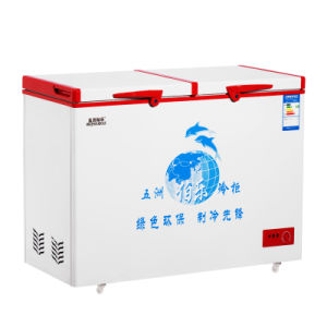 Single Temperature Top Open Double Doors Chest Freezer with Universal Casters pictures & photos