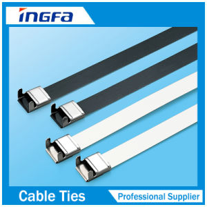 Polyester Coated Stainless Steel O Lock Cable Tie pictures & photos