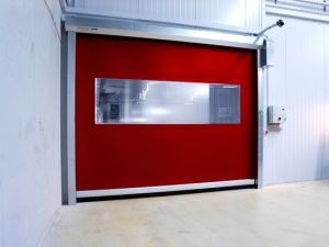 Wholesale Multiple Color High Speed Rolling Soft PVC Fabric Curtain Door (Hz-HSD07) pictures & photos