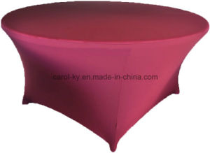 Round Elegent Spandex Fitted Table Cover pictures & photos