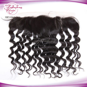 100% Virgin Hair Brazilian Loose Curly Lace Frontal pictures & photos