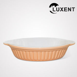 China New Arrival Ceramic Coffee Shop Color Oval Baking Trays pictures & photos