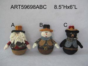Santa Snowman and Bear Christmas Cowboy Decoration pictures & photos