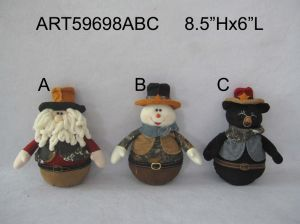 Santa Snowman and Bear Christmas Decoration Cowboy pictures & photos