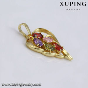 33146 Fashion Colorful Stone Heart Design Jewelry Pendant for Christmas Gift pictures & photos