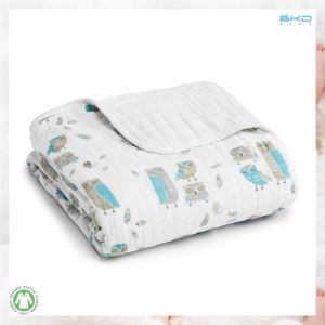 Muslin Baby Clothing Printing 2-Ply Baby Blanket pictures & photos