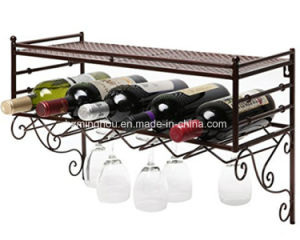 European Classical Wall Mounted Wine Rack and Wine Glass Storage pictures & photos
