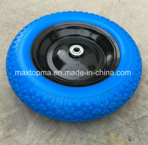 350-8 Factory Flat Free PU Foam Wheel pictures & photos