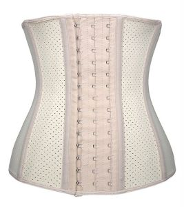 Hole Waist Trainer Corset Latex Waist Trainer with Steel Boned pictures & photos