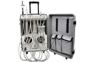 Portable Dental Chair Unit with Scaler, Light Cure and Suction pictures & photos