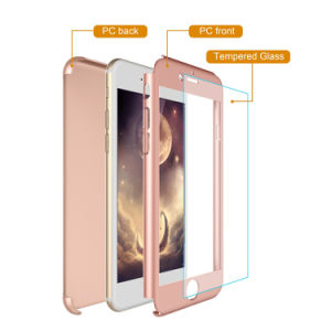 Wholesale 360 Degree Full Protective Shockproof Ultra Thin PC Hard Shell Case with Glass Screen Protector for iPhone 6plus pictures & photos