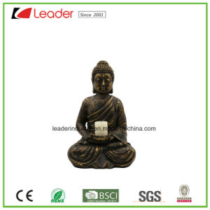 Polyesin Buddha Statue with Candle Holder for Home and Garden Decoration pictures & photos