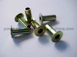 Steel Full Tubular Rivet L12 6.3X19.05mm DIN7338c 10-12 Zinc Yellow Plated pictures & photos
