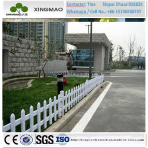 Outdoor White Temporary PVC Plastic Steel Garden Lawn Picket Fence/Grass Fence (XM81) pictures & photos