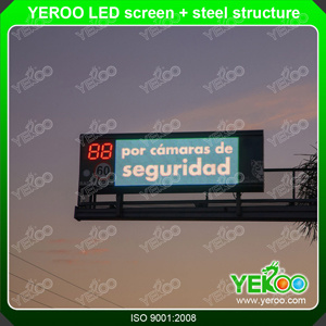 Road LED Message Screen Steel Sturcture Support pictures & photos