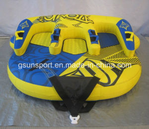Ski Inflatable Water Tube 3 Person Rider Boat Tow Towable