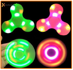 New Design Hand LED Light Wireless Bluetooth Speaker Fidget Spinner