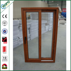 Insulation PVC Double Glass Window and Door Wood Grain Color pictures & photos